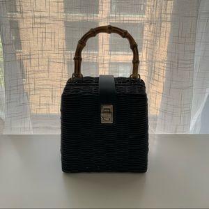 Zara Bamboo Handle Wicker Bag